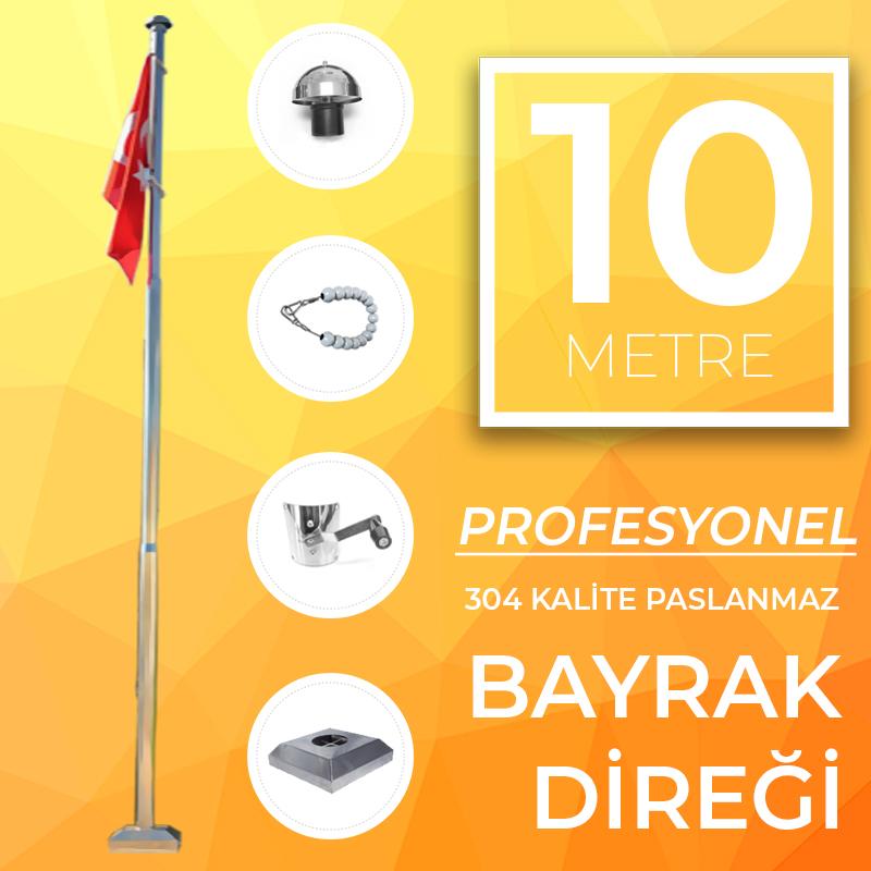 10 Metre Profesyonel Bayrak Direği