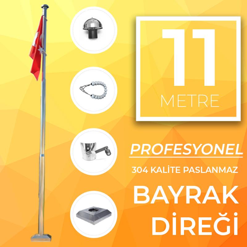 11 Metre Profesyonel Bayrak Direği