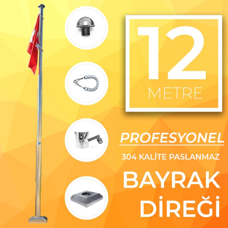 12 Metre Profesyonel Bayrak Direği